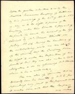Letter from Roger B. Taney to Beal Randall