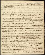 Letter from Roger B. Taney to William Beall