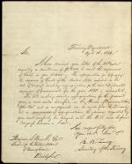 Letter from Roger B. Taney to Benjamin Bonsall