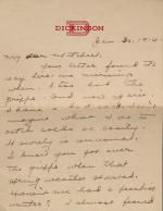 Letter to Mitchell from Unknown Author
