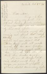 Letter from S. Homer Dosh to Mrs. J. H. C. Dosh
