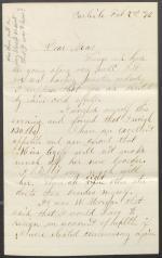 Letter from S. Homer Dosh to Mrs. J. H. C. Dosh