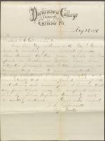 Letter from Joshua Lippincott to Daniel Gilman