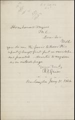Letter from Robert Grier to Leonard Myers