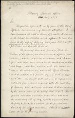 Letter from Jeremiah Black to Jacob Thompson