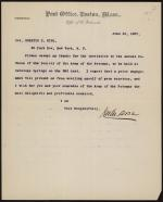 Letter from John Corse to Horatio Collins King