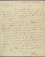 Letter from Joseph Priestley to Benjamin Barton