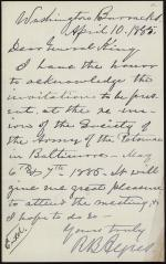 Letter from Romeyn B. Ayres to Horatio Collins King