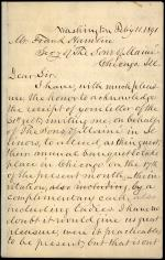 Letter from Horatio Collins King to Frank Hamlin