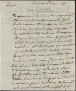 Letter from William Irvine to John Nicholson