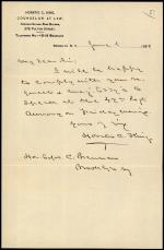 Letter from Horatio Collins King to Edward Brennan