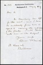 Letter from Spencer Baird to A. Haen & Company