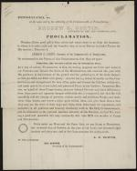 Proclamation of a Day of Thanksgiving by Andrew Curtin