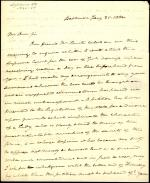 Letter from Roger B. Taney to Richard Coxe