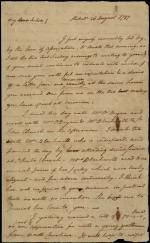 Letter from Benjamin Rush to Julia Stockton Rush