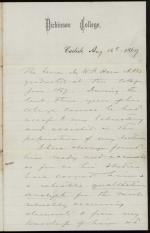Letter from Charles Himes to Unknown Recipient