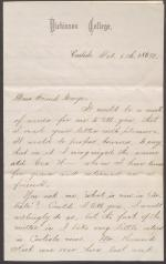 Letter from Joe Belford to George
