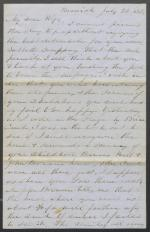 Letters from Charles Collins to Harriet Collins (Jul. - Aug. 1853)