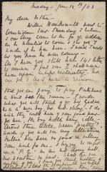 """Letter from """"Tissie"""" to Esther Windust"""