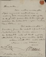 Letter from William Rawle to Isaac Wharton