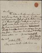Letter from Isaac Wharton to Robert Waln