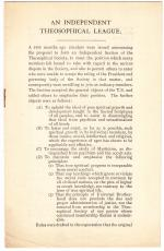 Independent Theosophical League pamphlet