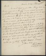 Letter from Thomas Cooper to Ebenezer Bradford