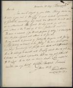 Letter from Thomas Cooper to Ebenezer Bradford