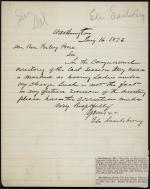Letter from Eli Saulsbury to Benjamin Poore