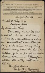 Letter from George Eggleston to Horatio Collins King
