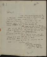 Letter from James Hamilton to John Nicholson