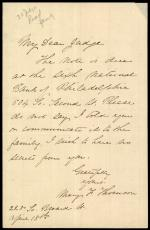 Letter from Mary Thomson to John Read