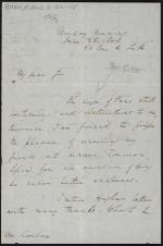 Letter from Richard Rush to Mr. Corbin