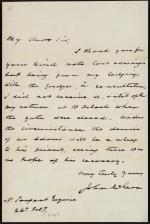 Letter from John McLean to N. Sargent