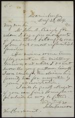 Letter from Simon Cameron to Abraham Lincoln