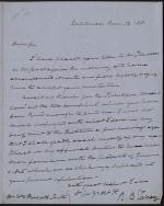 Letter from Roger B. Taney to William P. Smith