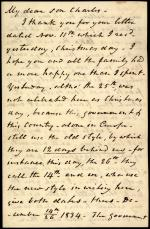 Letter from William Wilkins to Charles Wilkins