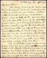 """Letter from William Wilkins to """"Pet"""" Wilkins"""