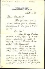 Letter from William Benét to Lawton Mackall