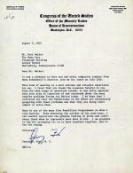 Letter from Gerald Ford to Paul Walker