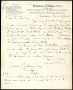Letter from Spencer Baird to James Ames