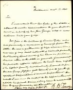 Letter from Roger B. Taney to James Paulding