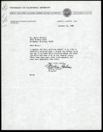 Letter from Melvin Calvin to Barry Fortson