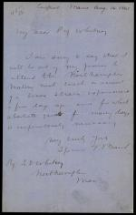 Letter from Spencer Baird to Josiah Whitney