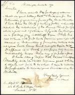 Letter from Spencer Baird to Alfred Bennett