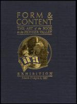 "Cover of ""Form and Content: The Art of the Book in Pioneer Valley"""