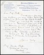 Letter from Spencer Baird to Charles Bell