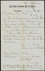 Letter from Spencer Baird to Robert Bell