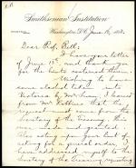Letter from Spencer Baird to Robert Bell