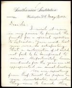 Letter from Spencer Baird to Winfrid Stearns